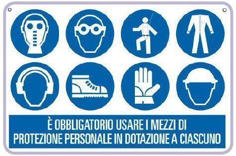 cartello dispositivi di protezione
