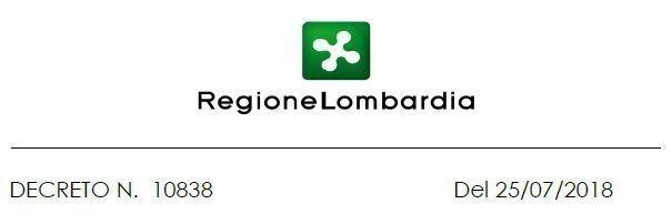 Decreto Regione Lombardia