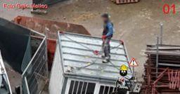 Pericoli e rischi nello spostamento di un container.