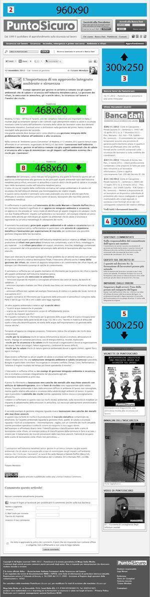 Banner grafici visibili nelle pagine degli articoli