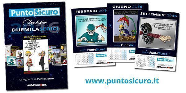 Richiedi il Calendario di PuntoSicuro personalizzato con il logo della tua azienda
