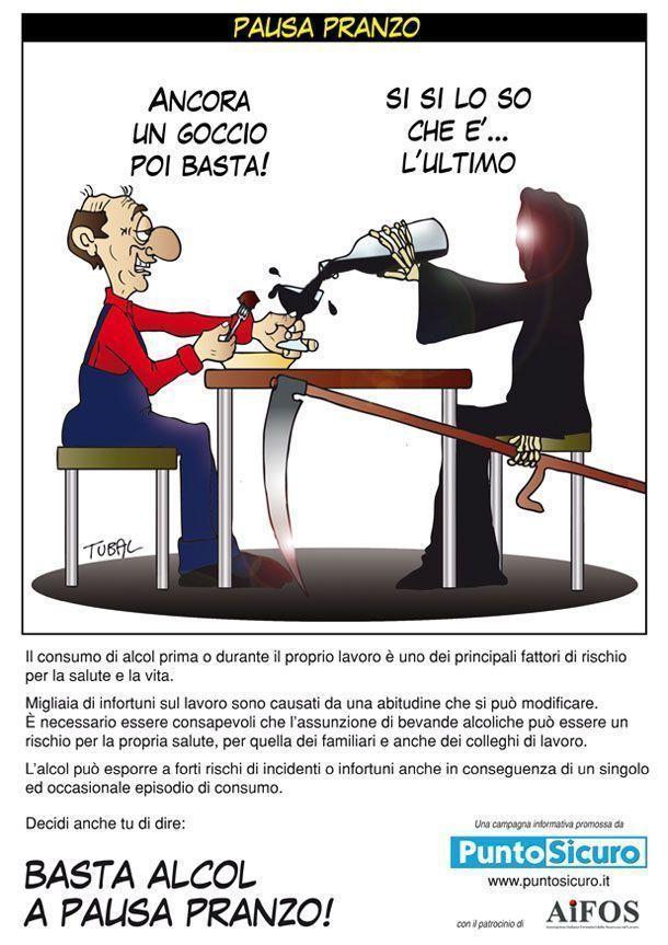 """Campagna di sensibilizzazione """"BASTA ALCOL IN PAUSA PRANZO!"""""""